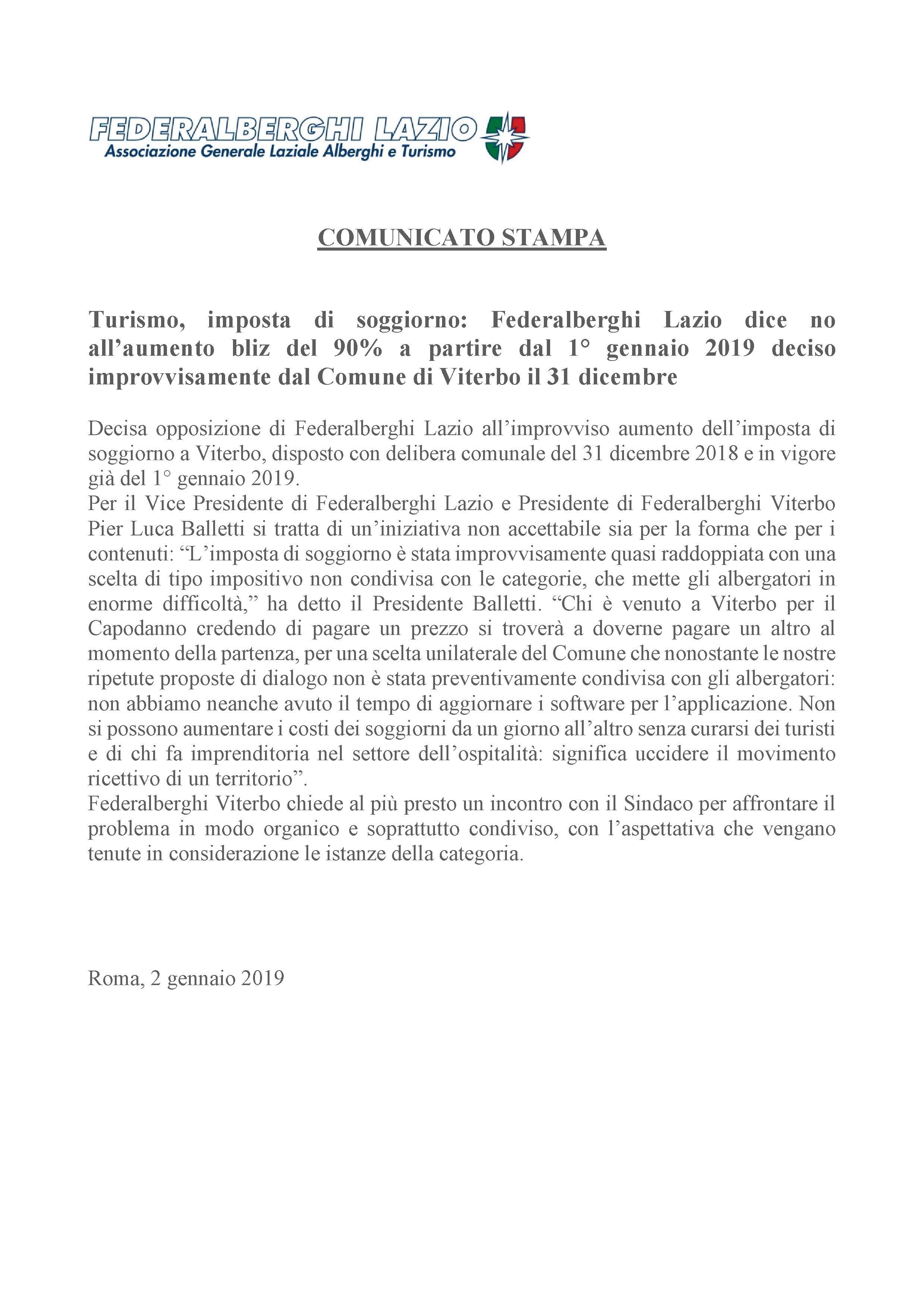 Federalberghi Lazio